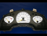 1992-1995 Pontiac Grand Am NON TACH White Face Gauges