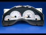1998-2003 Pontiac Grand Prix METRIC KPH KMH White Face Gauges