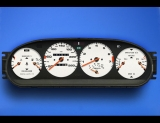 1986-1991 Porsche 944 260 KMH METRIC KPH White Face Gauges