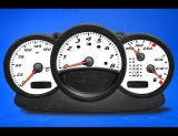 2000-2004 Porsche Boxster 986 White Face Gauges