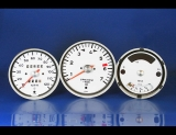 1970-1973 Porsche 914 Silver Button Base Needle White Face Gauges