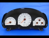 2000-2001 Saab 9-3 9-5 Auto White Face Gauges