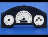 2003-2006 Saab 9-3 Black Ring Version White Face Gauges