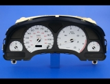 2000-2002 Saturn S-Series SL SC 110 MPH SOHC White Face Gauges