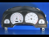 2000-2002 Saturn S-Series SL SC 130 MPH DOHC White Face Gauges