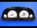 1993-1996 Subaru Impreza Manual Trans White Face Gauges
