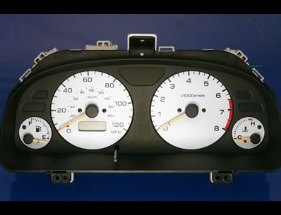 1998-2000 Subaru Forester White Face Gauges - Whitegauges net