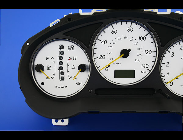 2002-2003 Subaru Impreza WRX White Face Gauges - Whitegauges net