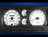 1988-1995 Suzuki Samurai Tach Square Vent White Face Gauges