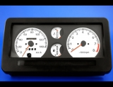 1988.5-1995 Suzuki Samurai Square Vent METRIC KPH KMH White Face Gauges