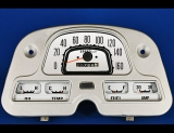 1964-1979 Toyota Landcruiser METRIC KPH White Face Gauges