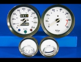 1970-1974 Triumph Spitfire METRIC KPH KMH White Face Gauges