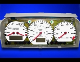 1990-1992 Volkswagen Corrado Electronic G60 White Face Gauges
