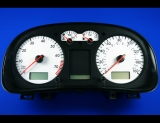 2002-2003 Volkswagen Golf 160 MPH White Face Gauges