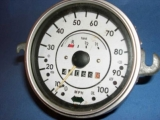 1967-1979 VW Beetle White Face Gauges