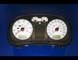 1999-2003 Volkswagen Jetta Golf METRIC KMH KPH White Face Gauges