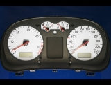 1999-2003 Volkswagen Jetta Golf TDI METRIC KPH KMH White Face Gauges