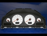 2000-2003 Volvo S60 S70 S80 C70 V70 White Face Gauges