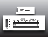 1973-1979 GMC K5 Jimmy White Heater Control Overlay HVAC