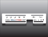 1986-1995 Suzuki Samurai Square Vent White Heater Control Overlay HVAC