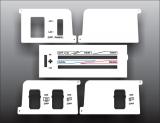 1987-1995 Jeep Wrangler White Heater Control Overlay HVAC