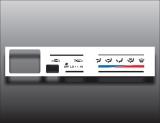 1992-1995 Toyota 4Runner White Heater Control Overlay HVAC