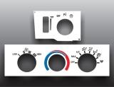 1993-2002 Pontiac Firebird No Defrost White Heater Control Overlay HVAC