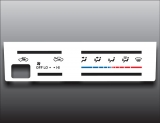 1995-1997 Toyota Tacoma 4Runner White Heater Control Overlay HVAC