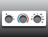 2001-2009 Mazda B3000 B4000 Truck White Heater Control Overlay HVAC