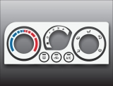 2000-2004 Subaru Legacy White Heater Control Overlay HVAC