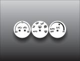 2003-2005 Nissan 350Z White Heater Control Overlay HVAC