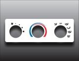 2004-2010 Mazda B2500 B3000 B4000 Non-AC White Heater Control Overlay HVAC