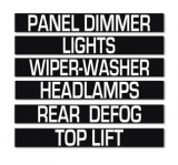 1970-1974 E Body Headlight Switch Panel Decal RALLYE