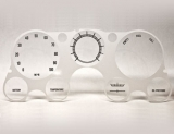 1967-1972 Chevrolet GMC Suburban Clear Instrument Cluster Replacement Lens