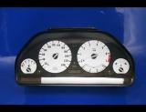 1989-1995 BMW E34 METRIC 5 Series White Face Gauges KMH KPH