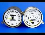 1960-1982 Checker Marathon 120 MPH White Face Gauges