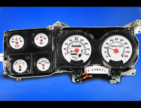 click here for Chevrolet white gauges