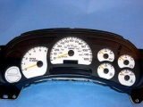 2003-2007 Chevrolet Silverado GAS KMH METRIC White Face Gauges