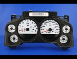 2007-2014 Chevrolet Silverado Truck METRIC KMH KPH White Face Gauges