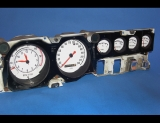 1968-1970 Dodge Charger METRIC KPH KMH White Face Gauges