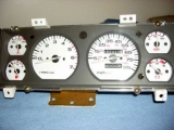 1991-1996 Jeep Cherokee White Face Gauges
