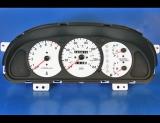 2000-2001 Kia Sephia Unleaded Fuel White Face Gauges 00-01