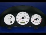 1997-1998 Mazda Protege White Face Gauges