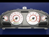 2002-2003 Nissan Sentra SE-R METRIC KPH KMH White Face Gauges