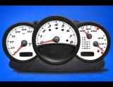 2000-2004 Porsche Boxster 986 White Face Gauges
